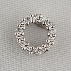 Pre-Owned Diamond Slide Pendant in 14 Karat White Gold  $129.00