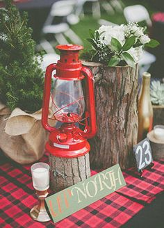 Spice Up Your Outdoor Wedding With Quirky Camping Details | TheKnot.com