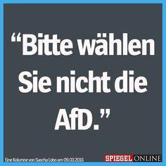 ACHTUNG: Bitte wählen Sie nicht die #AfD!!!