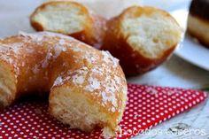 Bocados Caseros: RECETA AUTÉNTICA DE DONUTS CASEROS (Exactos al original) Baking Recipes, Cake Recipes, Dessert Recipes, Desserts, Beignets, Mini Donut Recipes, Churros, Tapas, Sweet Cooking