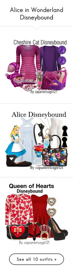 """""""Alice in Wonderland Disneybound"""" by capamericagirl21 ❤ liked on Polyvore featuring Diane Von Furstenberg, Disney, Steve Madden, Color My Life, Topshop, L. Erickson, Disney Couture, Gentle Souls, Cocoa Cashmere and NLY Accessories"""