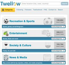 Yet another one of my new interests.  I'd never heard of #Twellow.  We gotta stick together.  Hope this helps.