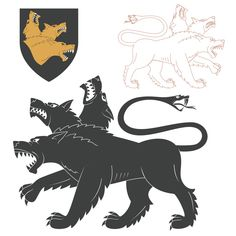 Cerberus - Monster Who Guarded Hades Hades Tattoo, Left Arm Tattoos, Soldier Drawing, Hercule, Animal Silhouette, Weird Creatures, Monster Art, Greek Mythology, Free Vector Art