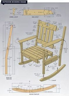 18 How to Build an Adirondack Chair Plans & Ideas Easy DIY Plans Outdoor Rocking Chair Plans Outdoor Furniture Plans The post 18 How to Build an Adirondack Chair Plans & Ideas Easy DIY Plans appeared first on Outdoor Ideas. Homemade Outdoor Furniture, Outdoor Furniture Plans, Woodworking Furniture, Pallet Furniture, Woodworking Plans, Woodworking Shop, Woodworking Videos, Woodworking Projects, Woodworking Patterns