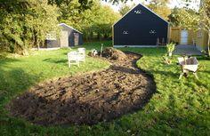 Bedet er klar til gemmen gravning og nye planter/frø