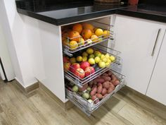 Greengrocer and fruit bowl. Keeps your food fresh at room temperature and ord . Greengrocer and fr Kitchen Room Design, Modern Kitchen Cabinets, Home Decor Kitchen, Interior Design Kitchen, New Kitchen, Home Kitchens, Kitchen Dining, Kitchen Organisation, Diy Kitchen Storage