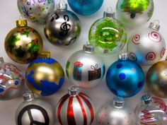 Sharpie Decorated Ornaments