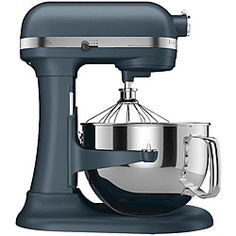 Stainless Steel Kitchen Aid Stand Mixer. I love that Kitchen Aid has a ton of different attachements so that I could become I real fancy chef!