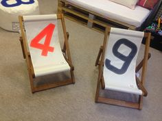 Little chairs for children by 727 Sailbags. Designed and created with recycled sails. Each £ 95.