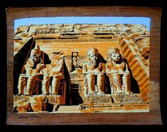 """Ancient Egyptian Art on Dark Egyptian Papyrus. Unique Handmade Art For Sale at arkangallery.com 