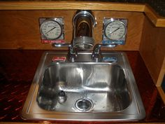 Sink, check (with working gauges!)
