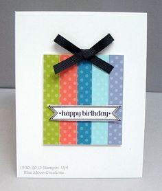 In Color Happy Birthday Present for April Splitcoaststampers Creative Crew Challenge.