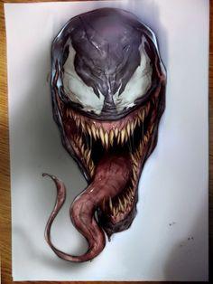 Venom, Ben Oliver on ArtStation at https://www.artstation.com/artwork/2LbOa