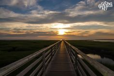 Sunset... Bass Hole Boardwalk at Gray's Beach in Yarmouth Port.  Photo by Elizabeth Hope,  e.Hope Photography www.ehopephotography.com