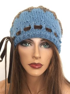Hand Knits 2 Love Hat Beanie Designer Fashion Hip Winter Female #HandKnits2Love #Beanie