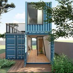 architecture and design Container Shop, Cargo Container Homes, Building A Container Home, Container Buildings, Container Architecture, Container House Design, Container Cabin, Modern Tiny House, Tiny House Cabin