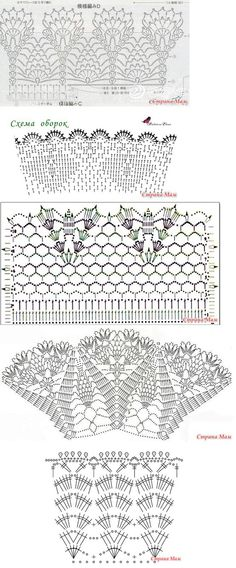 different kinds of crochet borders!