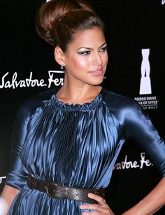 Eva Mendes hairstyle inspiration: formal updo.