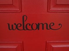 Love this!    READY TO SELL  Vinyl Welcome Sign  Front by MouseHouseCreations, $14.50