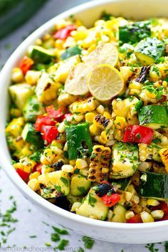 Smoky grilled zucchini, charred sweet corn, and tons of other Mexican goodness