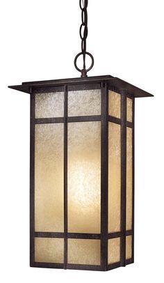 $225 entry light Delancy 1 Light Chain Hung Indoor/Outdoor Lantern | Wayfair