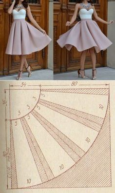 New sewing clothes dresses circle skirts ideas Fashion Sewing, Diy Fashion, Ideias Fashion, Skirt Patterns Sewing, Clothing Patterns, Skirt Sewing, Pattern Sewing, Pattern Dress, Sewing Box