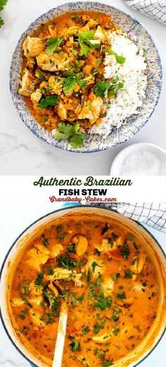 Moqueca (Brazilian Fish Stew) Pork Recipes For Dinner, Salmon Recipes, Fish Recipes, Lunch Recipes, Seafood Recipes, Soup Recipes, Cooking Recipes, Moqueca Recipe, Brazilian Fish Stew