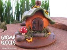 OOAK Pumpkin Fall Gnome Home - Collector's Item