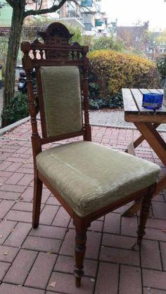 Stuhl aus der Gründerzeit.EinzelstückSchöner Stuhl Stühle, Gründerzeit, Eiche, um 1880/90Maße ca.46 cm (B) x 116 cm (H) x 40 cm (T, Sitz)Tel:004915757104493 - Kostenlos WhatsApp Messenger