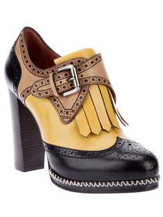SANTONI - High Heel Brogue