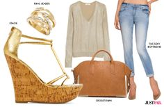 Glam up any casual outfit with some gold accents, perfect for any occasion. Check out JustFab Blog