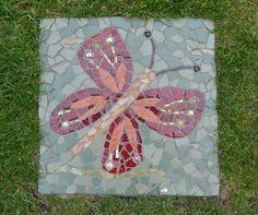 Glittering Shards   Turning garden slabs into mosaic paving stones.