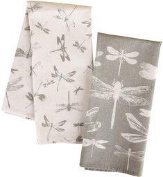 Neutrals are pretty, especially with the dragonflies on them.    #towel #kitchen #bathroom #linen #dragonfly #homedecor #homestyle #affiliate
