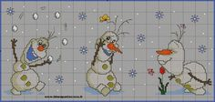 ♥Meus Gráficos De Ponto Cruz♥: Disney: Princesas Baby Frozen em Ponto Cruz (1)