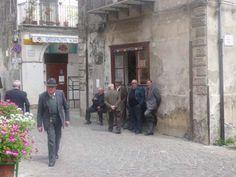 Local gathering in Isnello