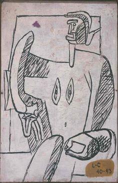 Fondation Le Corbusier - Peintures - Divinité baroque Botanical Drawings, Botanical Illustration, Illustration Art, Pen Sketch, Sketches, Maurice Utrillo, Antoine Bourdelle, Elements Of Art, French Artists
