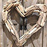 Driftwood Heart Wreath - Driftwood 4 Us Driftwood Wreath, Driftwood Projects, 13 In, Heart Wreath, Wood Watch, Wreaths, Wooden Clock, Door Wreaths, Deco Mesh Wreaths