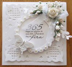 white card using Marianne Design dies