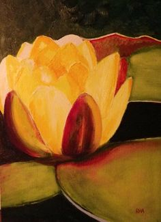 Water lily Flower Painting by Richard by RichardHarveyAllsop, $74.92