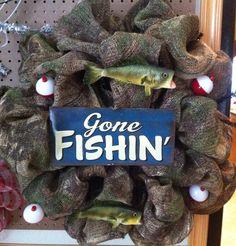 Items similar to Camouflage burlap fishing wreath on Etsy Camo Wreath, Hunting Wreath, Nautical Wreath, Sports Wreaths, Mesh Wreaths, Burlap Wreaths, Wreath Crafts, Diy Wreath, Wreath Ideas
