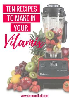 If you ever come to my house, it's almost a guarantee that I'm going to offer you some kind of food. Another guarantee is that said food was probably made in my Vitamix. I'm not going to lie, getting this amazing machine was one of the smartest things Dane and I ever did. It challenges...