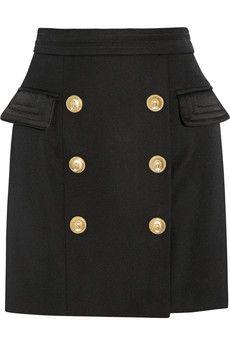 Balmain Wool mini skirt | NET-A-PORTER #onthelist #shoppingguide #rocksfashionbug
