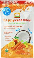Happy Baby Happy Creamies Organic Superfoods Carrot Mango and Orange Vitacost.com carries a large inventory of Organic Formula and Baby Foods