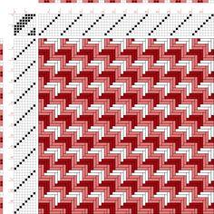 Weaving Draft Figurierte Muster Pl. XX Nr. 4, Die färbige Gewebemusterung, Franz Donat, Germany, 1907, #63555