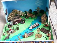 Today for inquiry you will be doing a sketch and plan for your diorama. A diorama is a three-dimensional model representing a scene. It needs to show what you have learned about the topic, and be r… History Projects, School Projects, Projects For Kids, Shoe Box Diorama, Native American Projects, Indian Project, Social Studies Projects, Woodland Indians, Indian Tribes