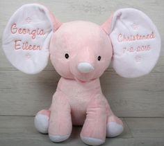 Personalised Keepsake Elephant Pink