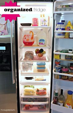 Hi Sugarplum | How To Organize your Fridge
