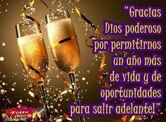 Feliz Año y Gracias a Dios por un año más de vida