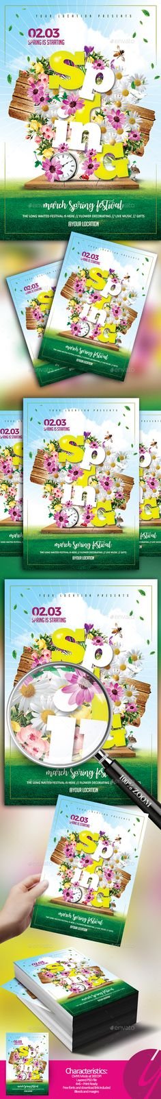 Spring is Starting Flyer - Holidays Events