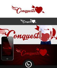 Logo for Conquests Logo Branding, Logos, Playing Cards, Games, Plays, Gaming, Logo, Game Cards, Game